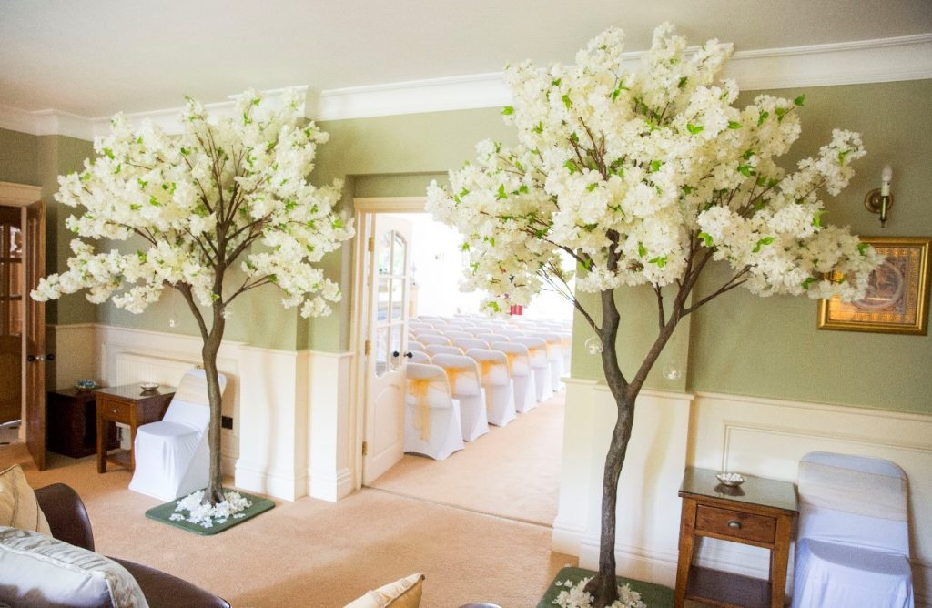 Anne-Marie can conduct your ceremony in your own home. Decor by Limelight Wedding Emporium limelightweddingemporium.co.uk