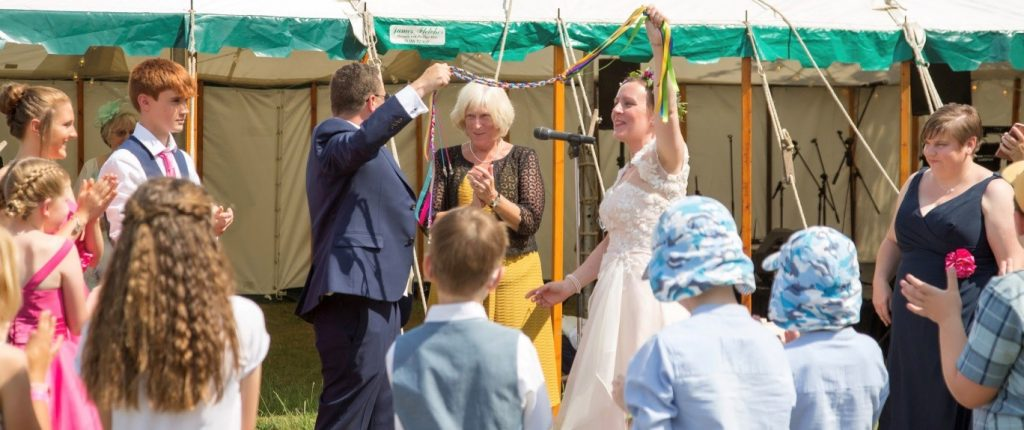 Festival Style Wedding with Handfasting for Stella and Pete