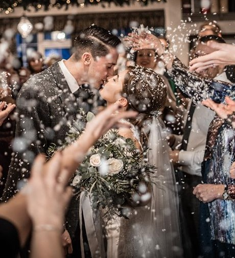 A Winter Wedding created and conducted by celebrant Anne-Marie