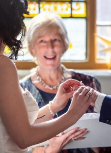 Anne-Marie Celebrant Exchange of Rings during a wedding ceremony