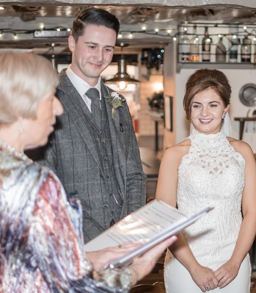 Winter Wedding Ceremony in the Lake District
