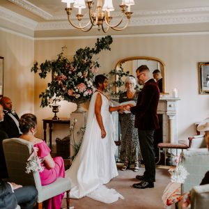 Country House Wedding conducted by celebrant Anne-Marie for Sheena and Ross