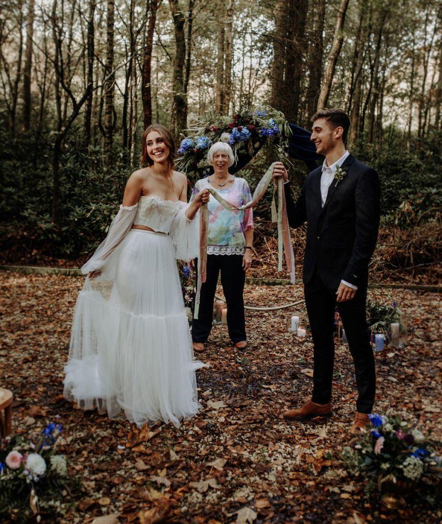 Woodland Wedding Hand Fasting (Jenny Appleton Photography)